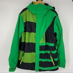 686 Green Men's Snowboarding/Ski Jacket Large